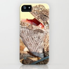 A Chameleon With Open Mouth iPhone Case