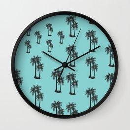 Coconut Tree Pattern Wall Clock