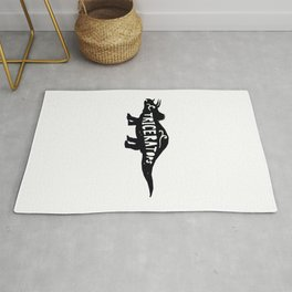 Triceratop Illustration Rug
