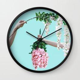 1992 Floral Episodes (Aqua) Wall Clock