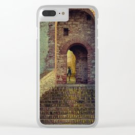 Medieval Fortress Clear iPhone Case