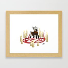 Summoning Satan Framed Art Print