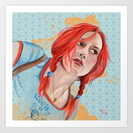 "Clementine:  I don't know. You erased me."" Art Print"