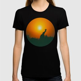 Lonely Sunset Giraffe T-shirt