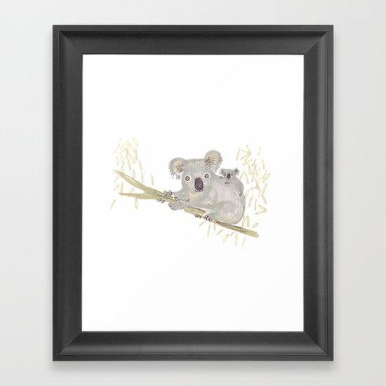 Koala & baby Framed Art Print