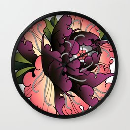 Maroon Peon Wall Clock