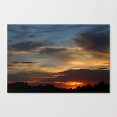 Warm Summer Sunset Canvas Print