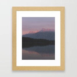 Vermillion Lake Framed Art Print