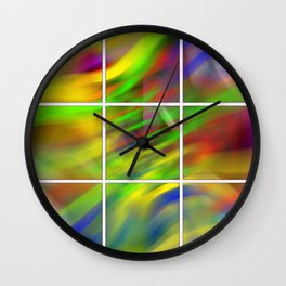 colourful abstraction Wall Clock