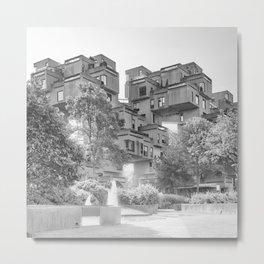Habitat 67 09 - Mid Century Architecture Metal Print