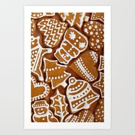 Christmas Gingerbread Cookies Art Print
