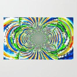 Kaleidoscope Graffiti Stripes  Rug