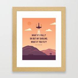 X wing Framed Art Print