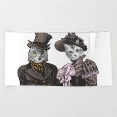 The Owl and the Pussycat Beach Towel