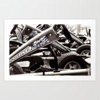 yowamushi pedal Art Prints featuring Pedal Cars by Upperleft Studios
