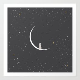 Rabbit Rabbit New Moon Art Print
