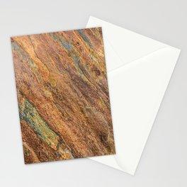 Rusty Latte // Orange Redish Stone Diagonal Texture Autumn Color Profile Stationery Cards