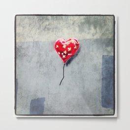 Banksy Mended Heart, Valentine Metal Print