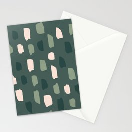 Paintbrush Green Rose Stationery Cards