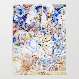 Mosaic of Barcelona VIII Poster