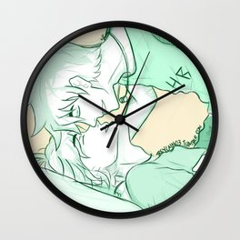 Percico New Year's Kisses Wall Clock