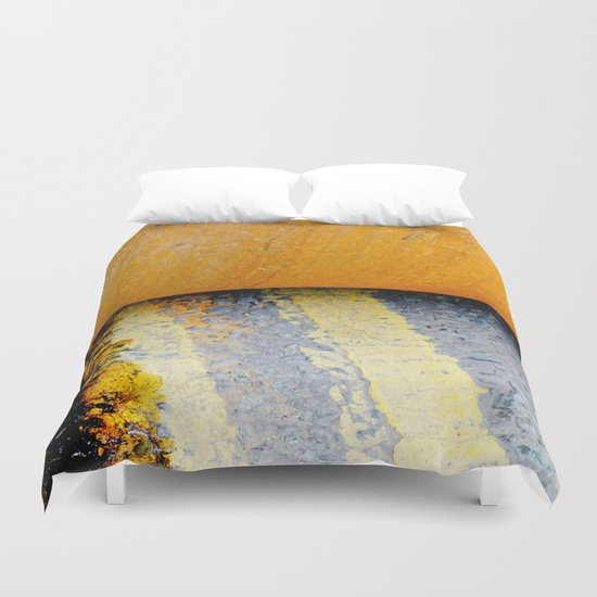 HAMM Roller on Double Yellow Lines Duvet Cover