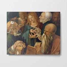 Christ among the Doctors by Albrecht Durer Metal Print