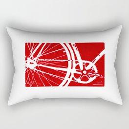 Red Bike Rectangular Pillow