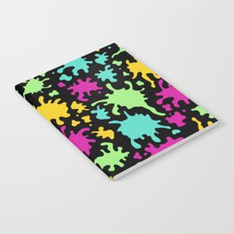 Colorful Paint Splatter Pattern Notebook