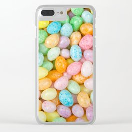 Happy Easter Speckled Jelly Beans Clear iPhone Case