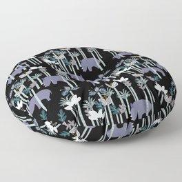 Rhino Jungle Floor Pillow