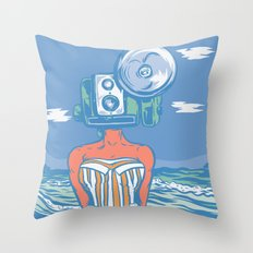 Greetings From The Beach Throw Pillow