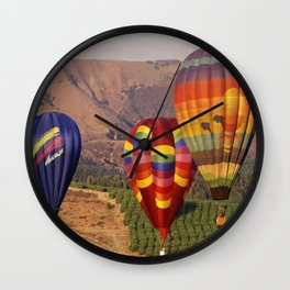 Hot Air Balloons Wine Country Southern California Wall Clock