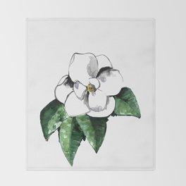 White magnolia Throw Blanket