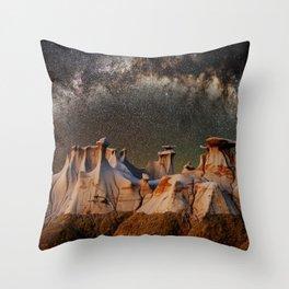 Cappadocia galaxy Throw Pillow