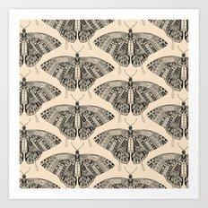 swallowtail butterfly pale peach black Art Print