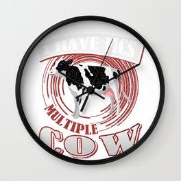 Dairy Cow Farmer I Have MCS Multiple Cow Syndrome Farming Farmer Wall Clock
