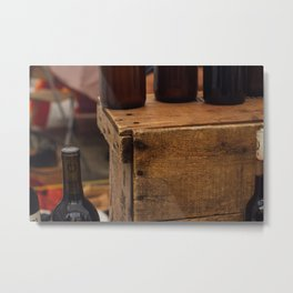 Wooden Crate - Seattle, WA Metal Print