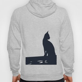Black Cat  Sitting On the Fence Hoody