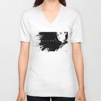 alien V-neck T-shirts featuring Alien by jgart