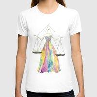 zodiac T-shirts featuring Zodiac - Libra by Simona Borstnar