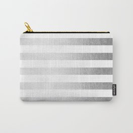 Simply Striped Moonlight Silver Carry-All Pouch