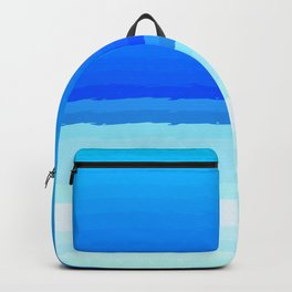 blue lines pattern shaded Backpack