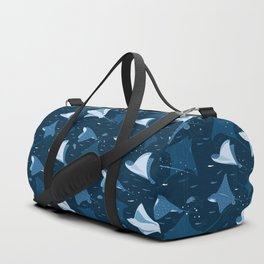 Blue stingrays pattern Duffle Bag