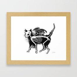 Devil Kitty Framed Art Print