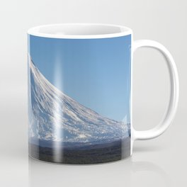 Stunning autumn view of active Klyuchevskoy Volcano on Kamchatka Peninsula on sunny day Coffee Mug