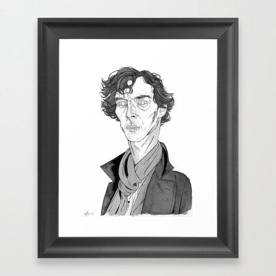 Benedict Cumberbatch - Sherlock Framed Art Print
