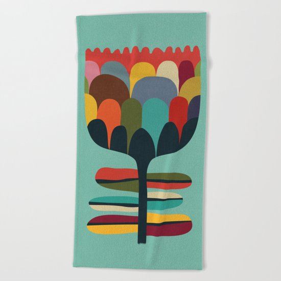 Flower Poet Beach Towel
