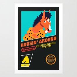 Classic 90s Sitcom based Games - Horse Edition Art Print