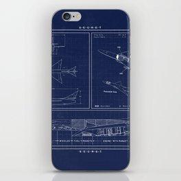 Republic AP 57 Blueprint Schematic iPhone Skin